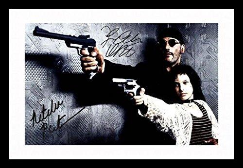Leon - Natalie Portman & Jean Reno Signiert und gerahmt Foto