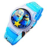 despicable me banana minions Uhren kids cartoon Watches Silicone Watch WP@KTW176013L