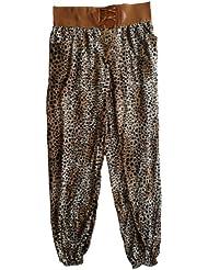 Damen Pumphose / Haremshose / Yoga Pant / Pluderhose mit Alloverprint, herbstlicher Jersey-Strick, Elastikbund