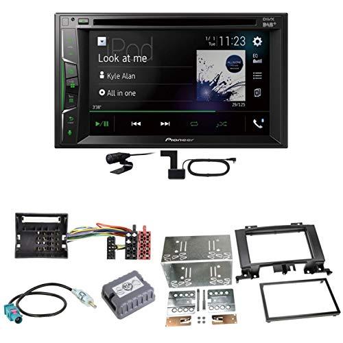 Pioneer AVH-A3200DAB USB Bluetooth Digitalradio DAB+ Autoradio Touchscreen Moniceiver Freisprecheinrichtung Weblink WAV Flac MP3 CD DVD Einbauset für Mercedes Sprinter W906 Crafter