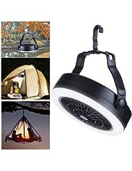 Tenda emergenze KEIMIX Il miglior equipaggiamento da Campeggio per Camion interruzioni Ventilatore da Campeggio con luci alimentate Tramite USB o a Batteria uragani