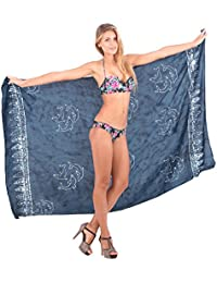 La Leela Beachwear Bikini Cover up Swimsuit Dresses Wrap Ladies Swimwear Bathing Suit Skirt Bathing 2X