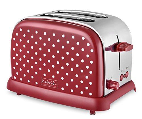 Fcps Calendar 2020 18.Kalorik To34272 Kitchen Originals Classic 2 Slice Polka Dot Stainless Steel Toaster Red White