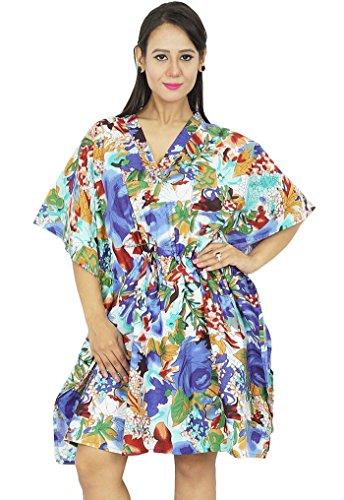 neue indische Baumwolle Kaftan plus Größe Frauen kleiden Kaftan Boho Hippie-Strand vertuschen Mehrfarben-