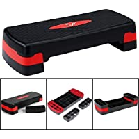 TNP Accessories® Aerobic Stepper Step Steps Exercise Cardio Gym Yoga Home Workout Pilates Platform Adjustable Step Board Fitness High