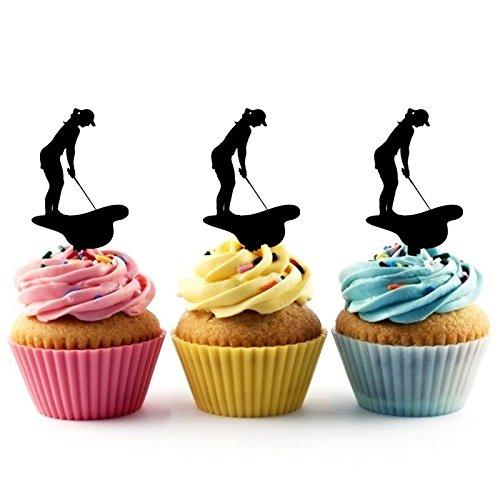 Golf Putt Kuchenaufsätze Hochzeit Geburtsta Acryl Dekor Cupcake Kuchen Topper Stand für Kuchen Party Dekoration 10 Stück