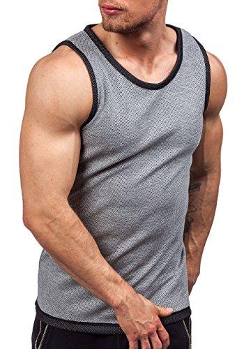 BOLF Herren Tanktop T-Shirt Ärmellos Muskelshirt Classic ATHLETIC 0489-1 Grau