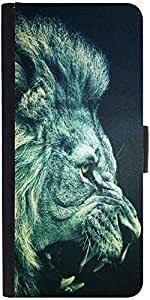 Snoogg Lion Furydesigner Protective Flip Case Cover For Samsung Galaxy Note 2