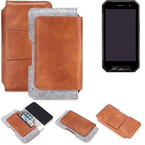 K-S-Trade Gürteltasche für Cyrus CS 27 Gürtel Tasche Schutz Hülle Hüfttasche Belt Case Schutzhülle Handy Hülle Smartphone Sleeve aus Filz + Kunstleder (1 St.)