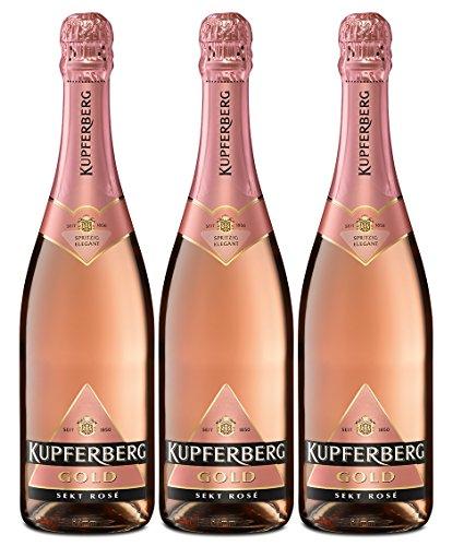 Kupferberg Gold Rosé Sekt Trocken (3 x 0.75 l)