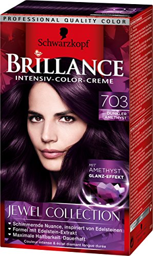 brillance intensiv color creme 703 dunkler amethyst jewel collection stufe 3 3er pack - Mousse Colorante Non Permanente