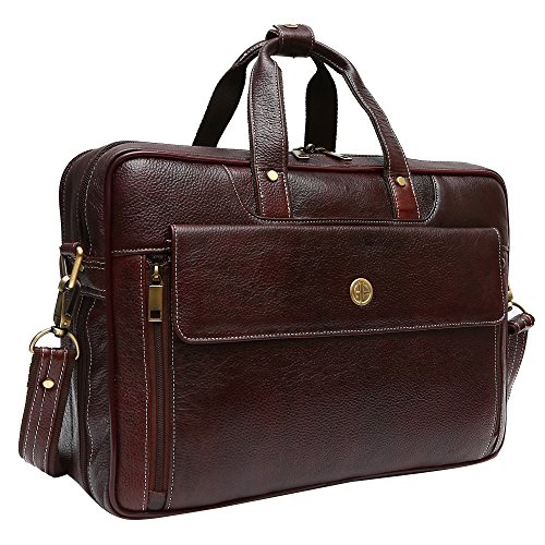 6d396ef489a56 Hammonds Flycatcher Leather 20 Ltrs Brown Briefcase