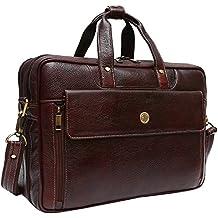 Hammonds Flycatcher Pure Genuine Leather 15.6 inch Brown Office Bag
