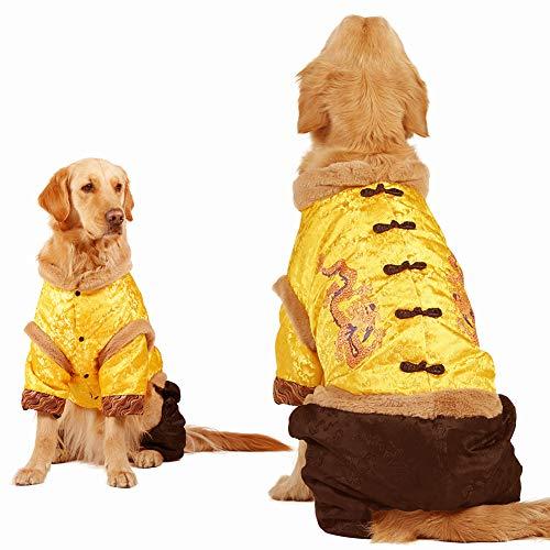 MUJING Winter Woolen Tang Suit Klassische Zwei-Bein Cool Press Jacke Für Kleine Und Große Und Große Golden Retriever Labrador Samoa Husky,M