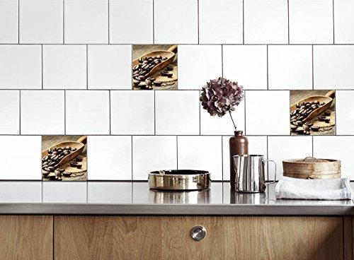 Küche Fliesen Aufkleber Kaffeebohnen Vinyl Film Für Badezimmer Wand Fliesen  Ideen Verschiedene Größen   16pcs