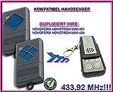 Novoferm Garagentor Fernbedienung Handsender Geeignet für Novotron MINI 401 | MINI 404, Kompatibel Ersatz sender (Fixed code) 433.92mhz