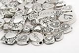 ILOVEDIY 45g Bastelset Metallperlen Mix 70 St. Metall Beads Perlen