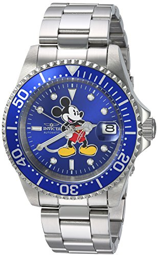 Invicta 24608 Disney Limited Edition - Mickey Mouse Unisex Wrist Watch Stainless Steel Automatic Blue Dial