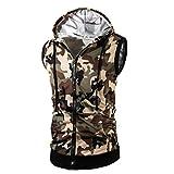Weste VENMO@ Camouflage Männer Tank Tops Weste Ärmelloses T-Shirt Casual Hoodie (Grün, Asiatisch Größe: M)