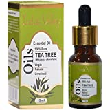 Indus valley 100% pure and natural tea tree essential oil for hair & face care(15ml)