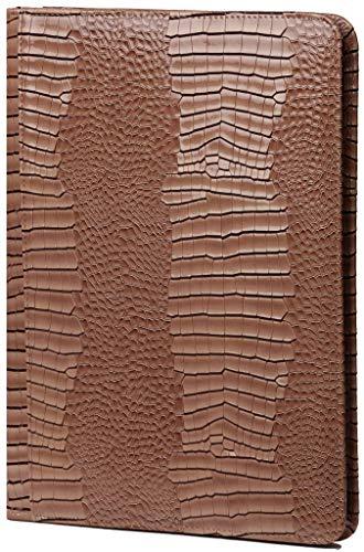 Kalpa A4 Organisator Alpstein Schreibmappen Wochenplaner Journal Tagebuch - 33 x 26 cm - Gloss Crock Taupe - Beige Crock