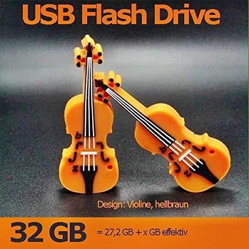 Euroge tech 32gb violino forma usb flash drive memory stick