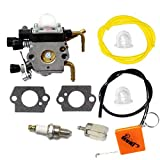 HURI Carburateur + Bougie d'allumage + Tuyau Filtre Essence pour STIHL HS81 HS81R HS81RC HS81T HS86 HS86R HS86T Taille-haies Remplacer 4237 120 0606 / ZAMA C1Q-S225