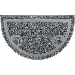 tapis pour chat bac liti re suaver imperm able demi lune style pvc tapis pour bac liti re. Black Bedroom Furniture Sets. Home Design Ideas