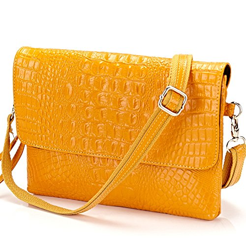 Mefly Nuova Borsa In Pelle Blu Bright yellow