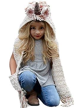 Cappello del fumetto di stile, Sunroyal Unicorno Ragazze Cappello Sciarpa mantello Invernale ,Bambini Autunno...