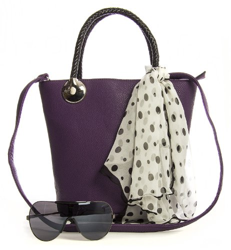 Big Handbag Shop, Borsa a mano donna One Blu (Blu)