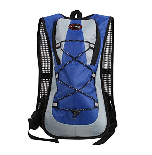 YiJee Wasserdicht Fahrrad Schulter Rucksack Wasser Reisetasche für Radsport Outdoor Reiten Bergsteigen Hydration 5 L Blau