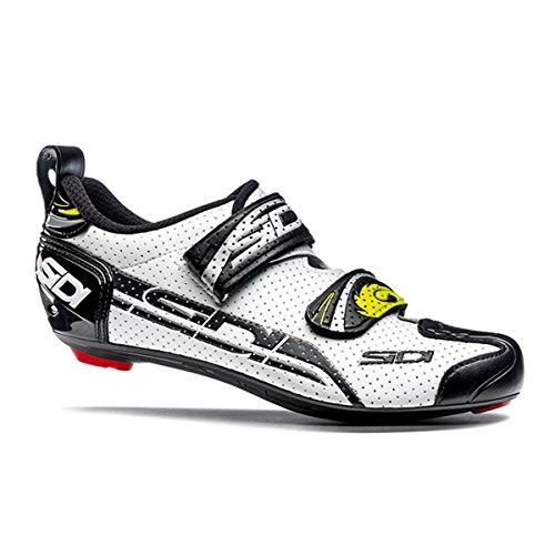 Chaussures route T4 AIR blanc/noir