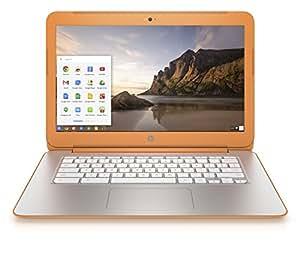 """HP Chromebook 14-x014nf PC portable 14"""" Orange (Nvidia Tegra, 4 Go de RAM, SSD 16 Go, Chrome OS)"""