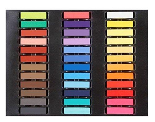 bf kit de 36 couleur de colorant temporaire des cheveux couleur cheveux craie craies pastels tendres - Craie Coloration Cheveux