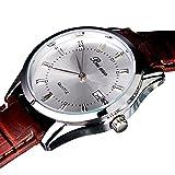 Abeillo Reloj de cuarzo Mens relojes simples Diseño Negocio de relojes de pulsera Casual Correa de cuero sintético reloj grande del dial