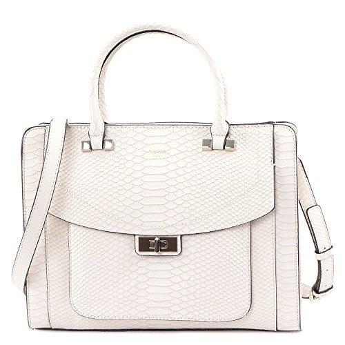 Guess Taschen - Kingsley - Girlfriend Satchel - Shell (Handtasche Zweifarbige Satchel)