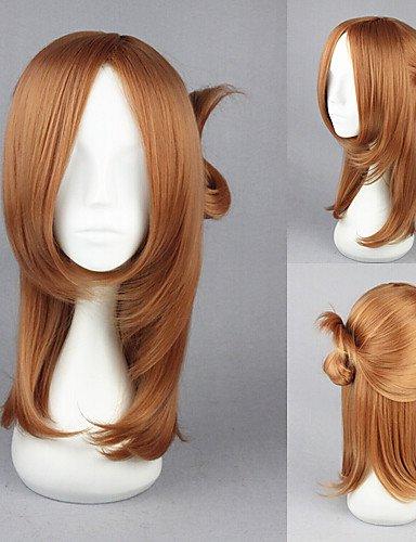 Perruque & xzl Perruques Fashion 50cm un semaine perruques lumière amis-Fujimiya kaori manga cosplay brun moyennes