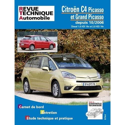Rta B723.7 Citroën C4 Picasso Diesel 1.6 Hdi et 2.0 Hdi 10/06>