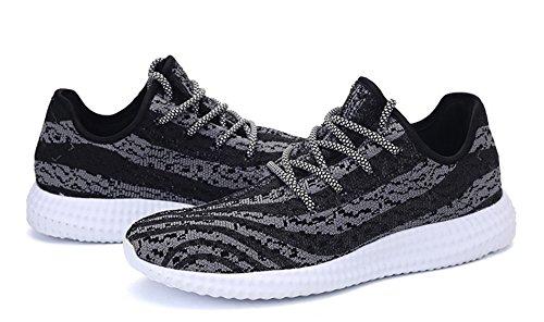 AgeeMi Shoes Herren Erwachsene Rund Zehe Low Top Sneakers Laufschuhe Schwarz