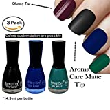 #1: Aroma Care Velvet Matte Nail Polish Black, Blue and Green Colors ( 14.9 ml per bottle)