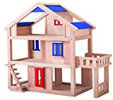 PLAN TOYS - Doll's House with Terrace