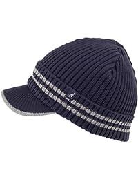 Bonnet à Visière Côtelé bleu marine KANGOL