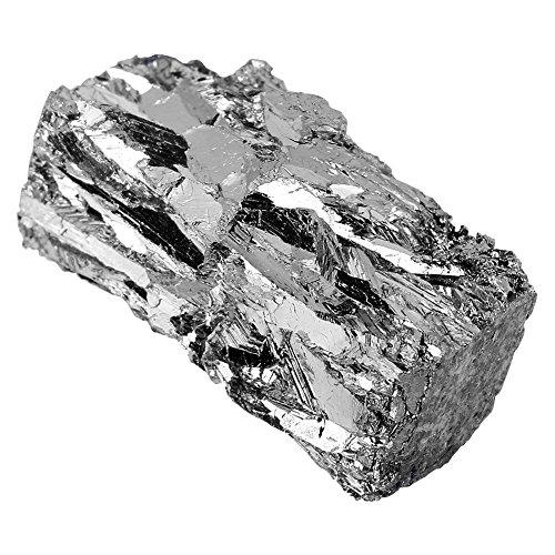 Multifunktionaler Wismutkristall, 100 g Wismutmetallbarrenblock, 99,99% reiner Kristall, hoher diamagnetischer Wert für die Herstellung von Kristallen, Wismutlegierungen, Halbleitern usw