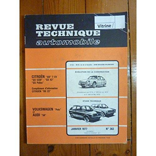RTA0363 - REVUE TECHNIQUE AUTOMOBILE VOLKSWAGEN VW POLO - AUDI 50