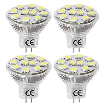 LE MR11 GU4.0 Lampadine LED da 1.8W, pari alogene 20W 12V AC/DC 165lm Bianca Diurna 6000K 4 Pezzi