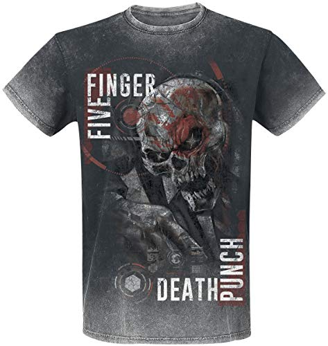 Five Finger Death Punch and Justice for None T-Shirt schwarz/Used Look XL -