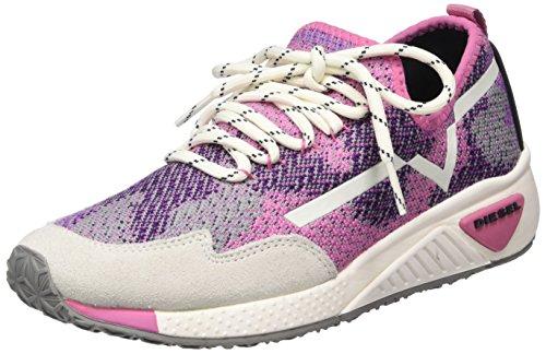 Diesel Damen Skb S-Kby-Sneakers Y01559 Sneaker, Mehrfarbig (Multicolor/ Pink-White), 41 EU