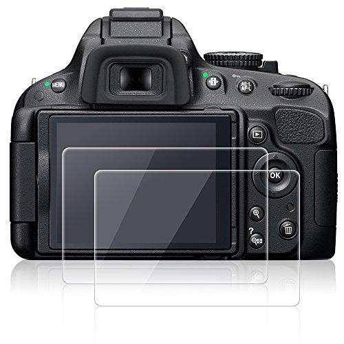 Displayschutzfolien für Nikon D5100 D5200, AFUNTA 2 Packs Anti-Kratzer gehärtetes Glas Schutzfolien für DSLR Digitalkamera