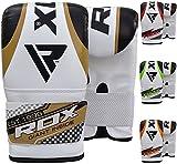 RDX Herren Boxhandschuhe Sparring Training Kickboxhandschuhe Punchinghandschuhe, Gold, One Size